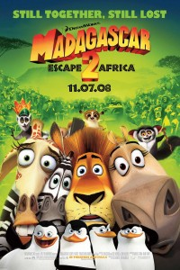 In the highly-anticipated sequel to Madagascar, Alex (Ben Stiller), Marty (Chris Rock), Melman (David Schwimmer), Gloria (Jada Pinkett Smith), King Julien (Sacha Baron Cohen), Maurice (Cedric the Entertainer) and the penguins (Tom McGrath, Christopher Knights, Chris Miller) and the chimps (Conrad Vernon) find themselves marooned on the distant shores of Madagascar. In the face of […]